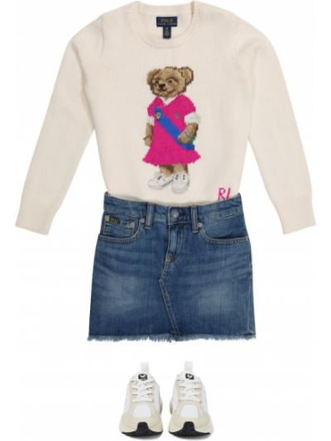 Biały sweter bawełniany Polo Ralph Lauren Kids