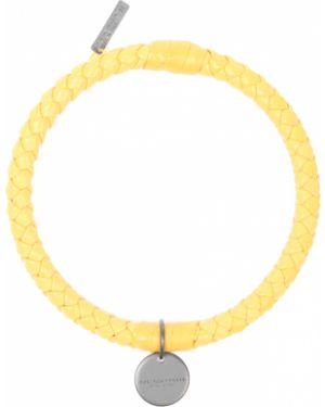 Плетеный браслет кожаный Bottega Veneta