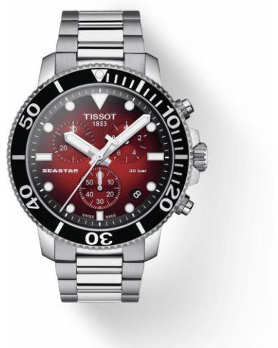 Czerwony zegarek sportowy Tissot