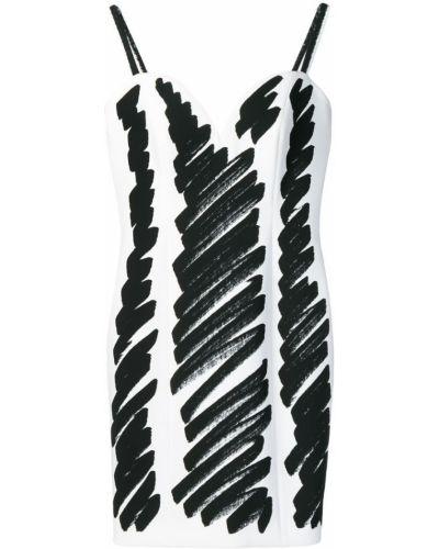 Платье с принтом на бретелях Moschino