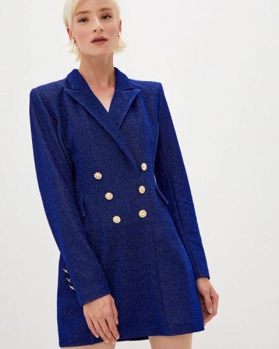 Синее вечернее платье Chiara Ferragni Collection