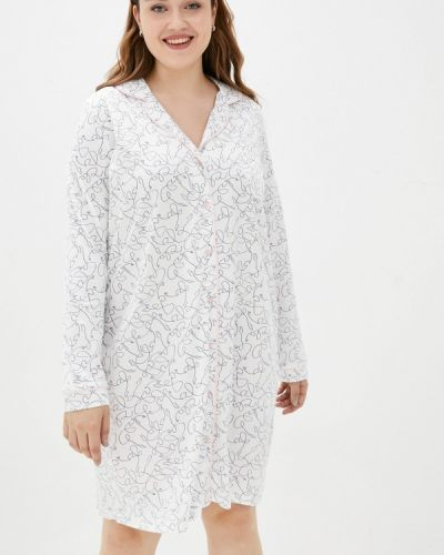 Белое весеннее платье Ulla Popken