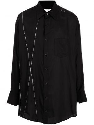 Czarna koszula z printem Sulvam