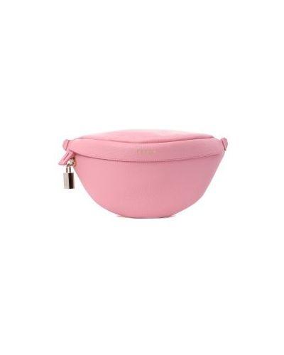 Розовый ремень с поясом Furla
