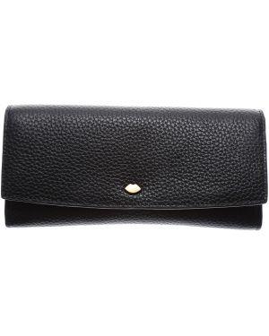Czarny portfel skórzany Lulu Guinness