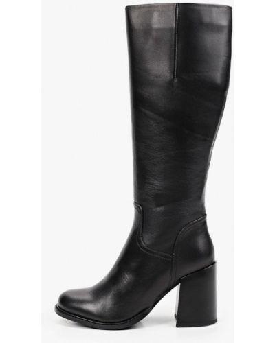 Кожаные сапоги - черные Just Couture