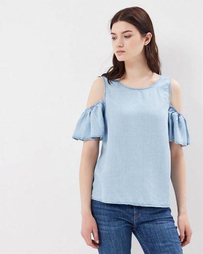 Голубая блузка с рюшами Noisy May
