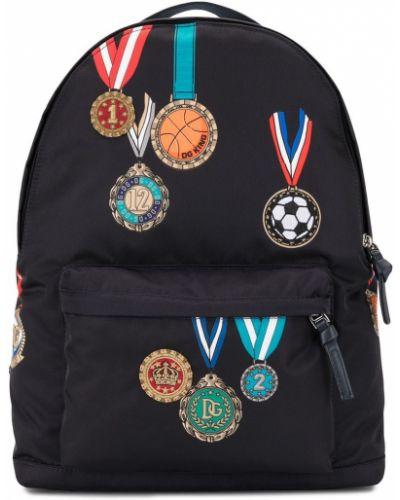 Хлопковый синий рюкзак Dolce & Gabbana Kids