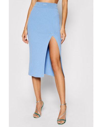 Niebieska spódnica ołówkowa Kontatto