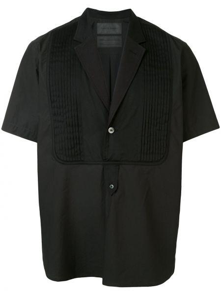 Koszula krótkie z krótkim rękawem klasyczna czarna Fumito Ganryu