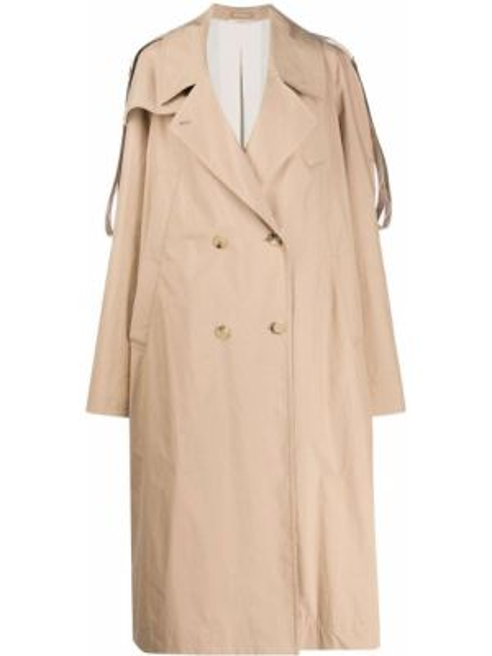 С рукавами коричневое свободное пальто оверсайз Nehera
