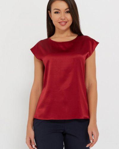 С рукавами шелковая красная блузка Silk Me
