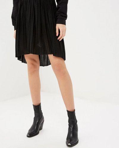 Плиссированная юбка итальянский черная Rinascimento