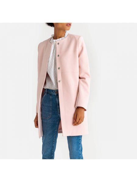 Пальто демисезонное без воротника La Redoute Collections