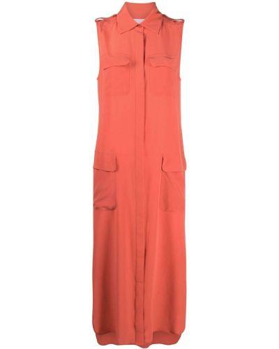 Красное прямое платье Equipment