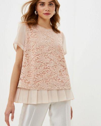 Блузка с коротким рукавом розовая Helmidge
