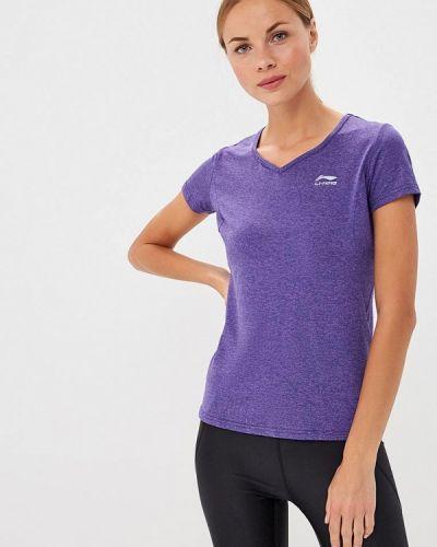 Спортивная футболка фиолетовый Li-ning