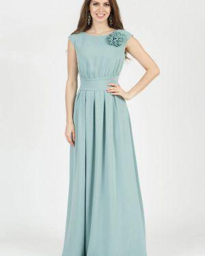 Повседневное платье бирюзовый осеннее Olivegrey