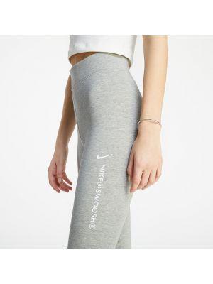 Szare legginsy z wysokim stanem Nike