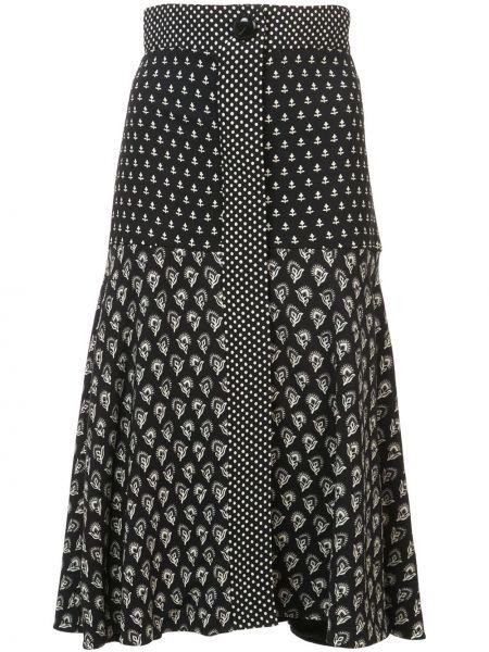 Czarna spódnica rozkloszowana z wiskozy Proenza Schouler