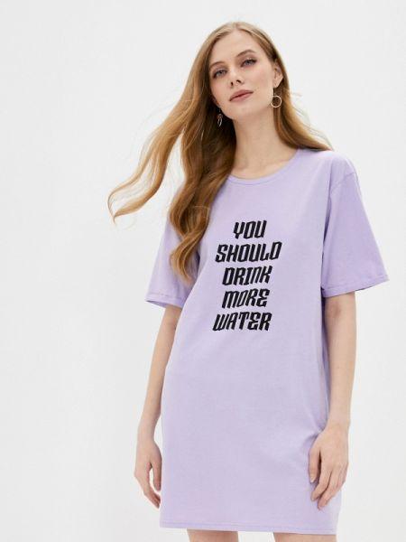 Футбольное фиолетовое платье Sh