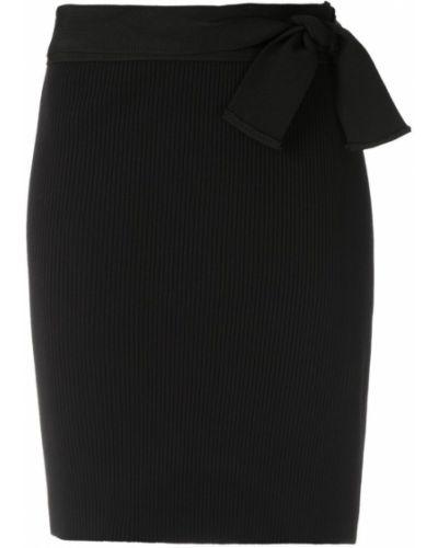 Черная прямая юбка мини Magrella