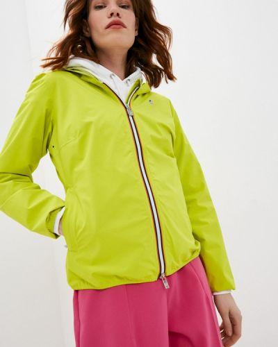 Облегченная зеленая куртка K-way