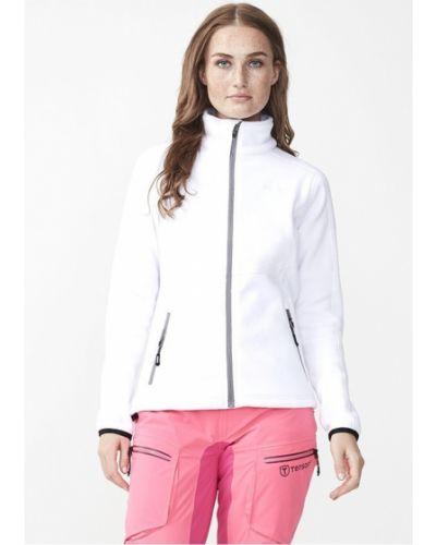 Флисовая белая спортивная куртка на молнии Tenson