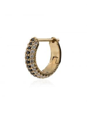 Белые золотые серьги с бриллиантом Lizzie Mandler Fine Jewelry