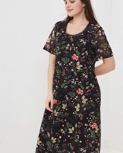 Черное платье миди Ulla Popken
