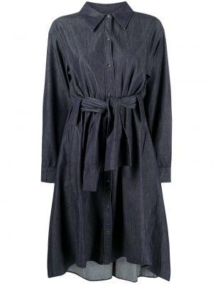 Прямое синее платье миди с воротником Dorothee Schumacher
