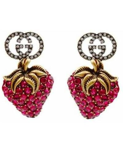 Kolczyki sztyfty - czerwone Gucci