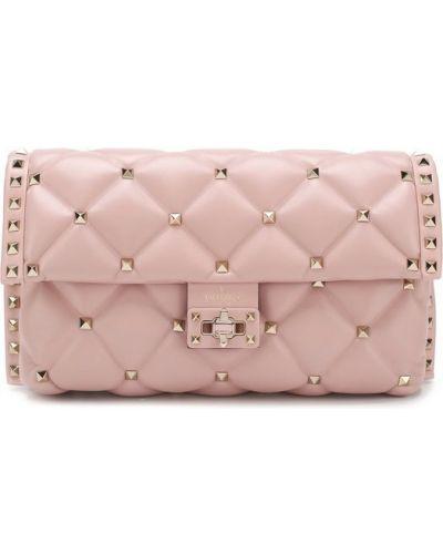 Розовая вечерняя сумка Valentino
