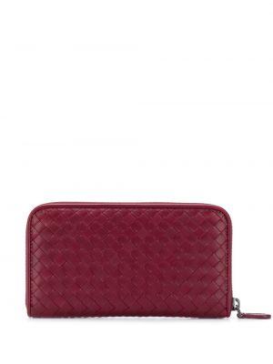 Кожаный кошелек - красный Bottega Veneta