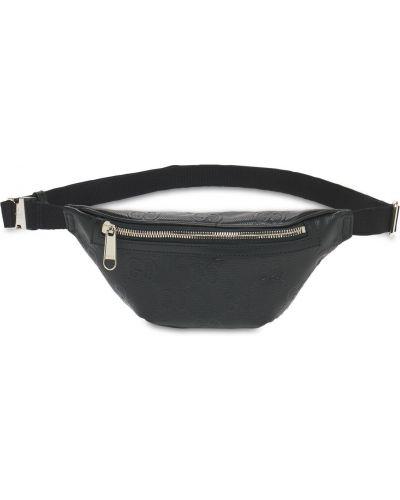 Кожаная поясная сумка на молнии с поясом Gucci