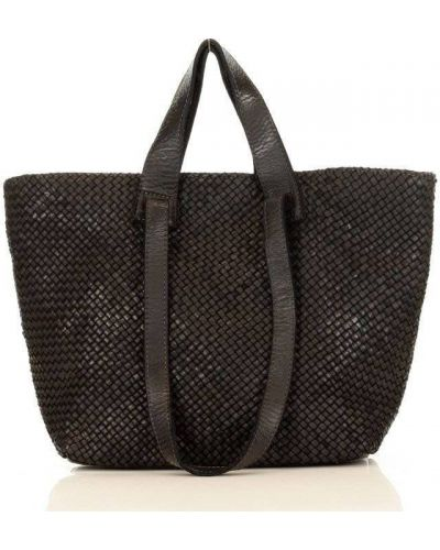 Czarna torebka skórzana miejska Mazzini