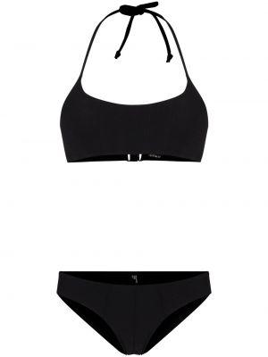 Plaża nylon czarny bikini Lisa Marie Fernandez