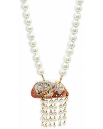 Ожерелье с жемчугом металлическое на крючках Kenneth Jay Lane
