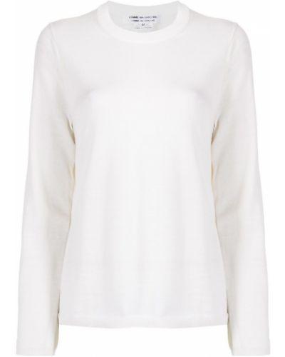 Шерстяной белый джемпер с длинными рукавами Comme Des Garçons Comme Des Garçons