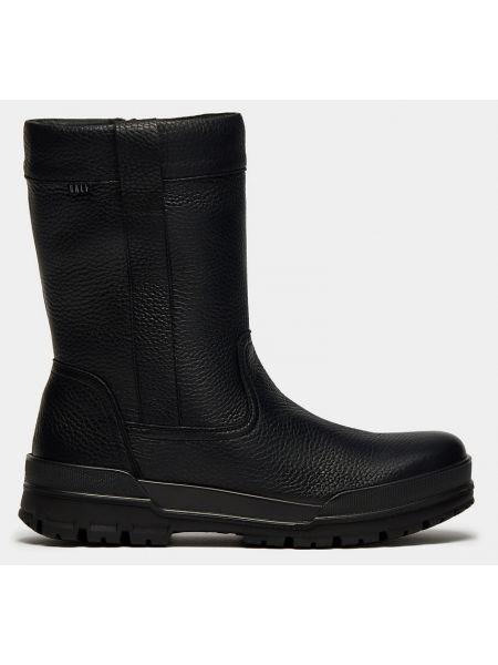 Деловые кожаные черные зимние ботинки на молнии Ralf Ringer