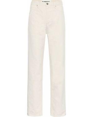 Beżowe jeansy bawełniane na plażę Jil Sander
