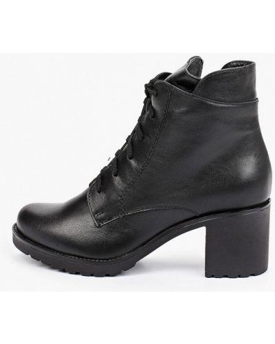 Черные ботинки с круглым носком Francesco Donni