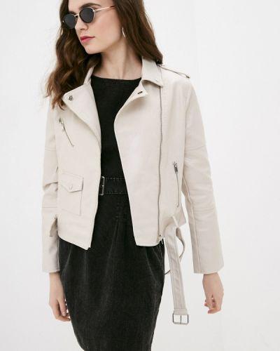 Бежевая кожаная куртка Izabella