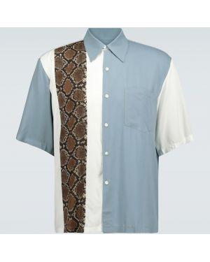 Koszula klasyczna z kołnierzem zapinane na guziki Aries
