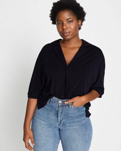 Черная блузка с длинным рукавом с длинными рукавами Violeta By Mango