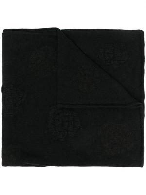 Z kaszmiru czarny szalik z haftem Barrie