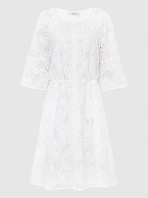 Белое платье миди Blumarine