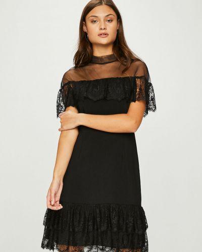 Платье мини прямое с оборками Answear