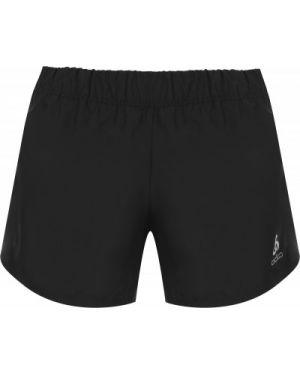 Компрессионные свободные черные спортивные шорты свободного кроя Odlo