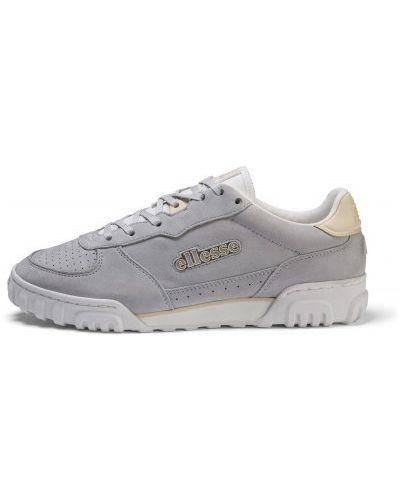 Кожаные белые кроссовки на шнуровке Ellesse